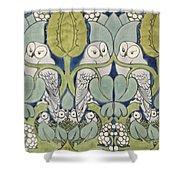 Owls, 1913 Shower Curtain