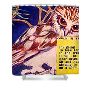 Owls In The Trees Shower Curtain