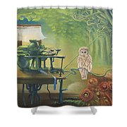 Owl's Insomnia Shower Curtain