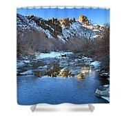 Owyhee River Reflection Desert Light Shower Curtain