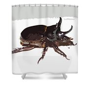 Ox Beetle Abstract Shower Curtain