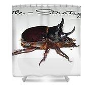 Ox Beetle Shower Curtain