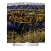 Oxbow Bend In The Wenatchee River Shower Curtain