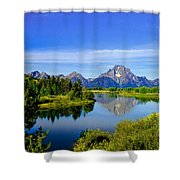 Oxbow Bend Shower Curtain by Robert Bales