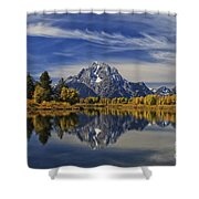 Oxbow Reflections Shower Curtain