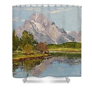 Oxbow View Mt. Moran Shower Curtain