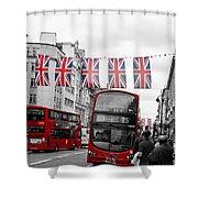 Oxford Street Flags Shower Curtain