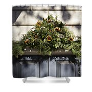 Oyster And Sunflower Swag Shower Curtain