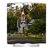 Oysterville Church Shower Curtain