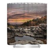 Ozark Mountain Stream Shower Curtain