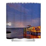 Ozona Pier  Shower Curtain