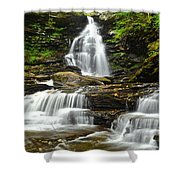 Ozone Falls Close Up Shower Curtain