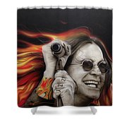Ozzy's Fire Shower Curtain