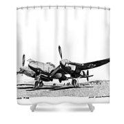 P 38 Lightning Shower Curtain