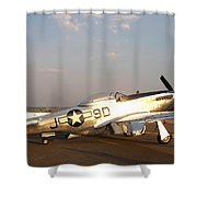 P-51 Mustang Fighter Aircraft Shower Curtain