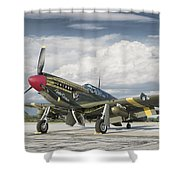 P-51 Mustang Shower Curtain