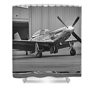 P-51d Spam Can Shower Curtain