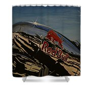 P38 Red Bull Lightning Warbird Shower Curtain