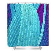 P4240195 - Eye Lens Fiber  Shower Curtain
