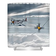 P51 Mustang - Old Crow Shower Curtain