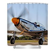 P51 The Brat Shower Curtain