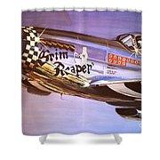 P51d Mustang Grim Reaper Warbird Shower Curtain