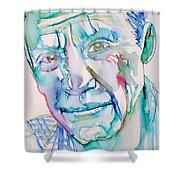 Pablo Picasso- Portrait Shower Curtain by Fabrizio Cassetta