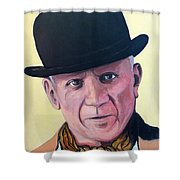 Pablo Picasso Shower Curtain by Tom Roderick