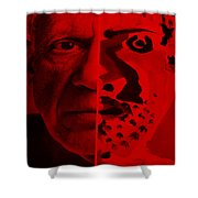 Pablo Red Shower Curtain