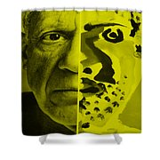 Pablo Yellow Shower Curtain