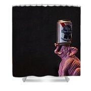 Pabst Blue Ribbon Tap Shower Curtain