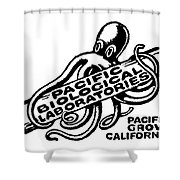 Pacific Biological Laboratories Of Pacific Grove Circa 1930 Shower Curtain