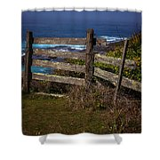 Pacific Coast Fence Shower Curtain