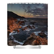 Pacific Coast Golden Light Shower Curtain
