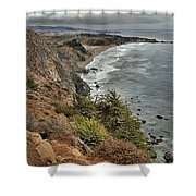 Pacific Coast Storm Clouds Shower Curtain