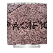 Pacific Concrete Street Sign Shower Curtain
