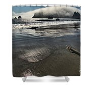 Pacific Fog Shower Curtain by Adam Jewell
