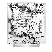 Pacific Grove And Vicinity  Monterey Peninsula California  Circa 1880 Shower Curtain