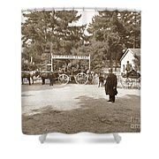 Pacific Grove Retreat Gate On Lighthouse At Grand Aves  With  O. J. Johnson Circa 1880 Shower Curtain