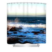 Pacific Grove Surf 19894 Shower Curtain