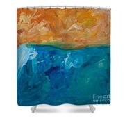 Pacific Isle Sunset Shower Curtain
