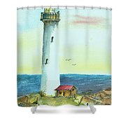 Pacific Lighthouse Shower Curtain