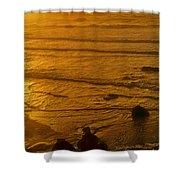 Pacific Ocean Sunset Bandon Beach Oregon Shower Curtain