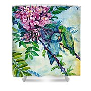 Pacific Parrotlets Shower Curtain