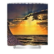 Pacific Sunset By Diana Sainz Shower Curtain