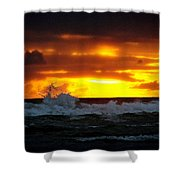 Pacific Sunset Drama Shower Curtain