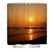 Pacific Sunset Reflection Shower Curtain