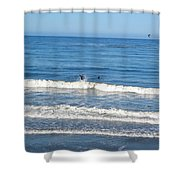 Pacific Surfer Shower Curtain