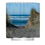 Pacific Trail Head Shower Curtain