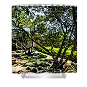 Pacifica Courtyard Shower Curtain